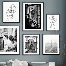 Modelo de ventana de tienda de dinero para mujer, cuadro sobre lienzo para pared carteles nórdicos e impresiones de imágenes de pared para decoración para sala de estar