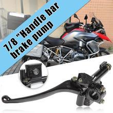 7/8 Алюминиевый правый передний тормоз главный цилиндр рычаг твердый Практичный и прочный для GY6 50cc 125cc 150cc 230x75x70 мм