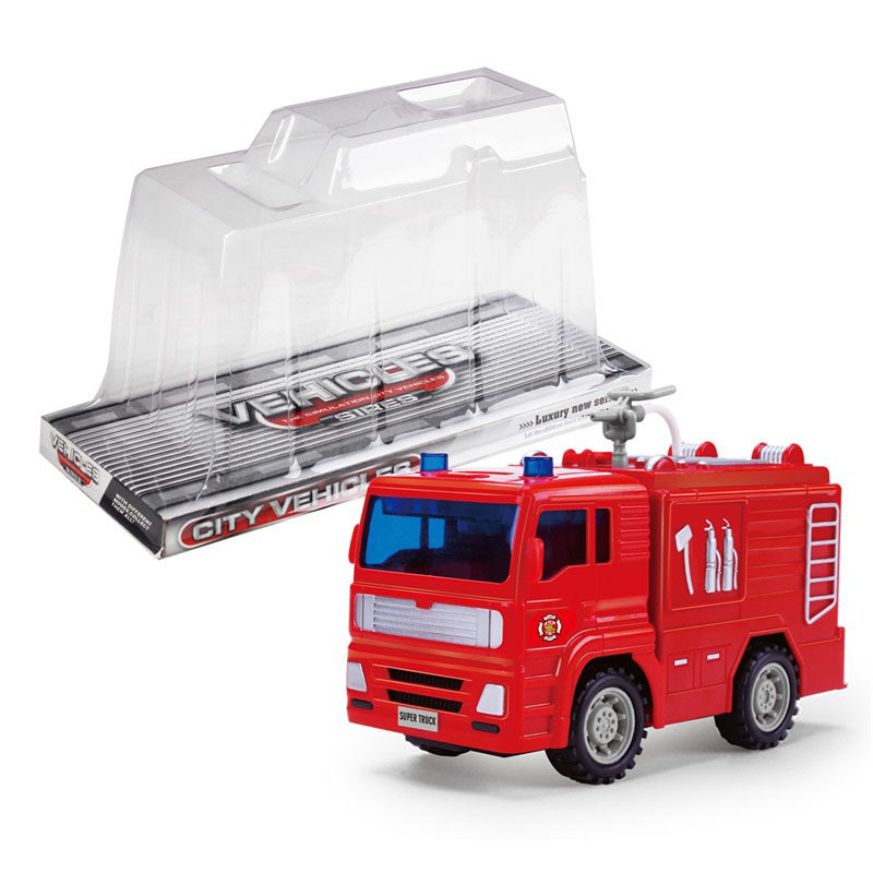 Children Inertia Toy Car Large Size Model Engineering Water Spouting Fire Truck Model Educational Toy Gift Kits