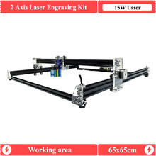 2Axis15W Laser engraver 6565 GRBL1.1 Laser Cutter CNC router Engraving Machine