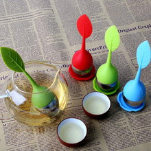 цена на The tea injector Tea strainer Silicone tea maker Spice filter reusable Stainless steel tea setKitchen accessories