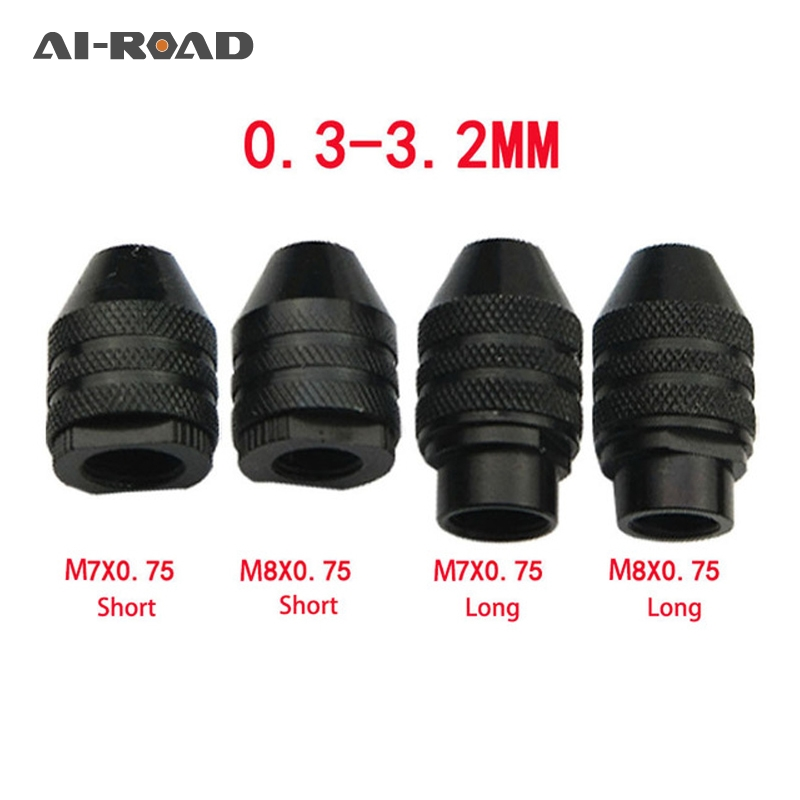 4 Types Multi Chuck Keyless 0.3-3.2mm Keyless Drill Bit Chucks Adapter Converter Dremel Rotary Tools For Garages Offices Homes