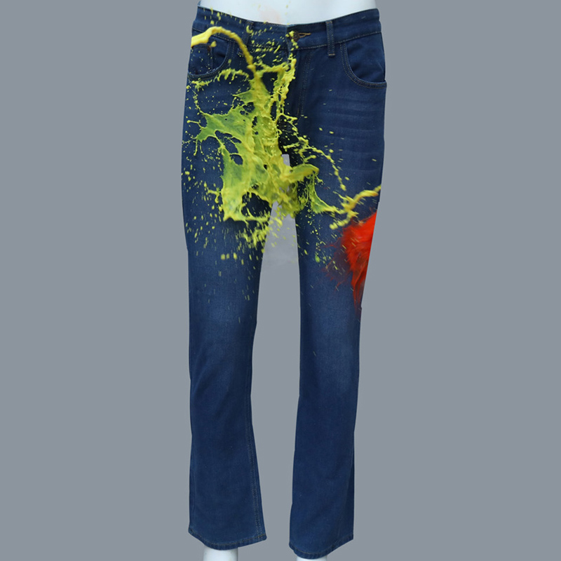 Cool New Jeans Waterproof Antifouling Hydrophobic Male Denim Jeans Slim Fit Designer Men Large Size Trouser Summer Clothing