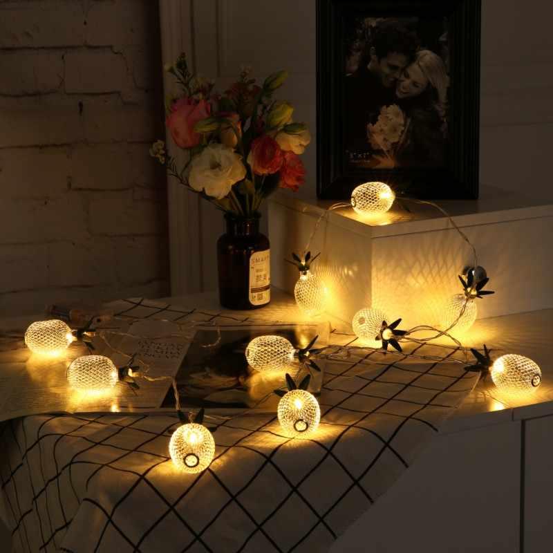 אננס Led מנורת מחרוזת תפאורה חג המולד עץ פירות קיר תליית קישוטי מסיבת חתונה עיצוב הבית אבזרים