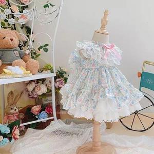 2 шт., летнее платье принцессы в стиле Лолиты, испанское кружевное бальное платье с вышивкой и бантом, винтажное пасхальное вечернее платье с...