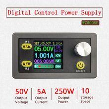 DC Step Down Converter CC CV 50V 5A Power Module Adjustable Regulated Laboratory Power Supply Voltmeter Ammeter sk80 dc dc buck boost converter cc cv 0 6 36v 5a power module adjustable regulated laboratory power supply variable 5v 12v 24v