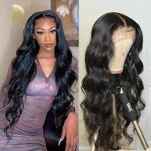 360 peluca frontal de encaje brasileño de la onda del cuerpo de la peluca 13x4 frente de encaje pelucas de cabello humano para las mujeres negras barato pelucas pre arrancado el pelo del bebé