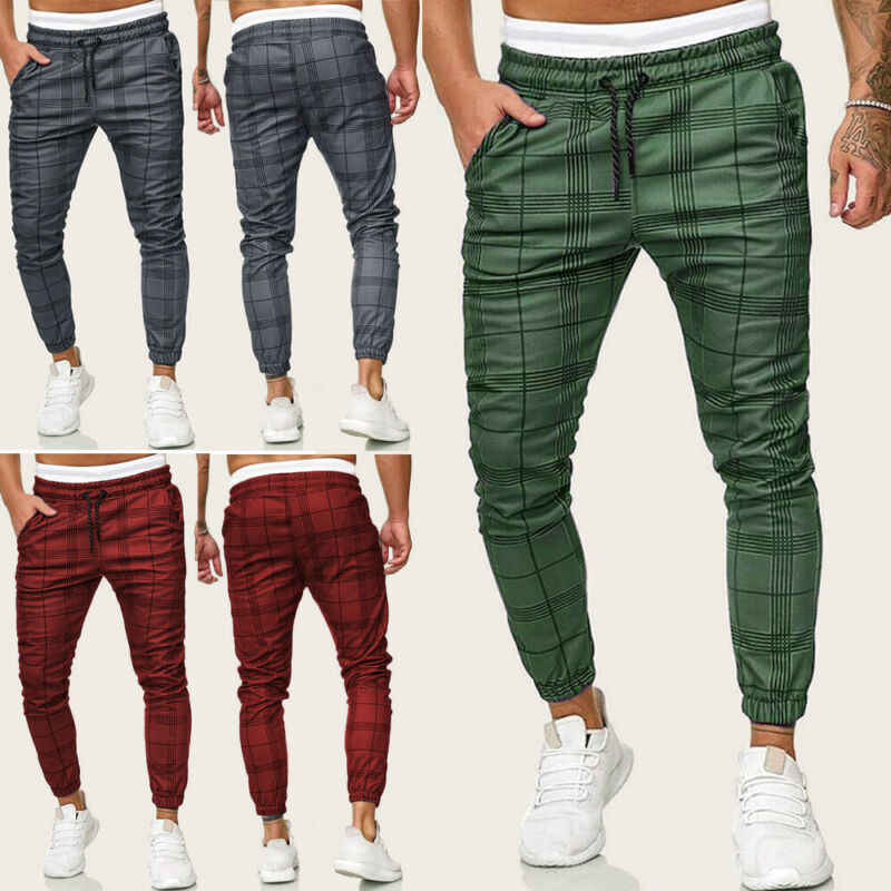 New Fashion Pants Men Casual Gym Long Sport Pants Slim Fit Trousers Running Joggers Gym Sweatpants Male Boy Cool Outwear Bottoms