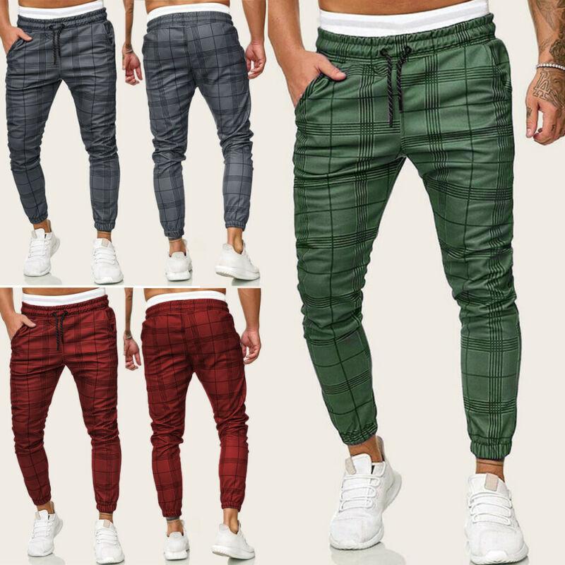 New Fashion Pants Men Casual Gym Long Sport Pants Slim Fit Trousers Running Joggers Gym Sweatpants Male Boy Cool Outwear Bottoms