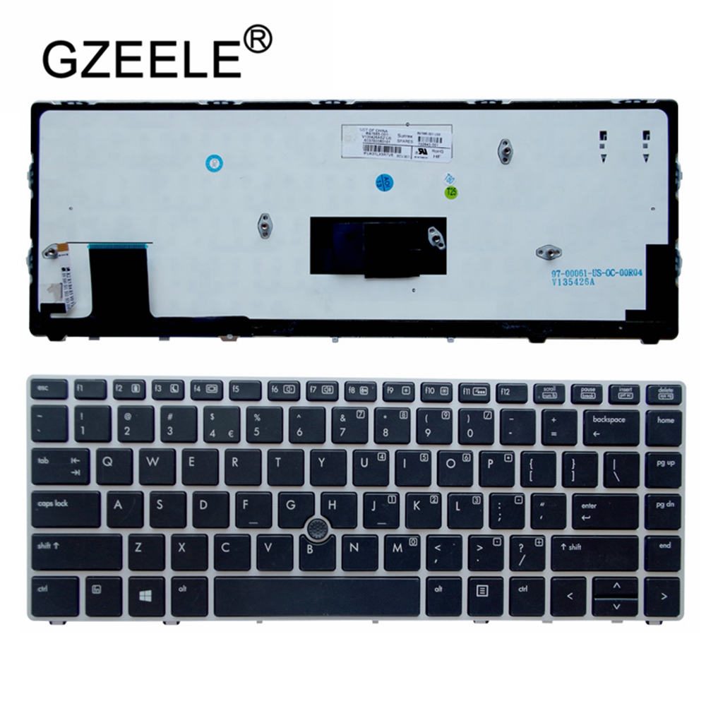 GZEELE Laptop Accessories NEW Genuine For HP Elitebook Folio 9470M 9470 9480M Laptop Keyboard Backlit 697685-001 702843-001 US