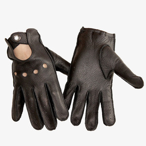 Image 5 - Deerskin gloves mens motorcycle single layer thin section fashion new spring and summer autumn motorcycle rider leather gloves