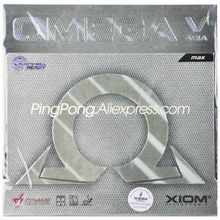 XIOM OMEGA V ASIA Table Tennis Rubber (Non-sticky, High Friction) Original XIOM Omega 5 Asia Ping Pong Sponge