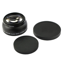 цена на Camera Dedicated Lens, 37MM0.45X Wide-Angle + Macro 2 in 1 Additional External Wide-Angle Lens