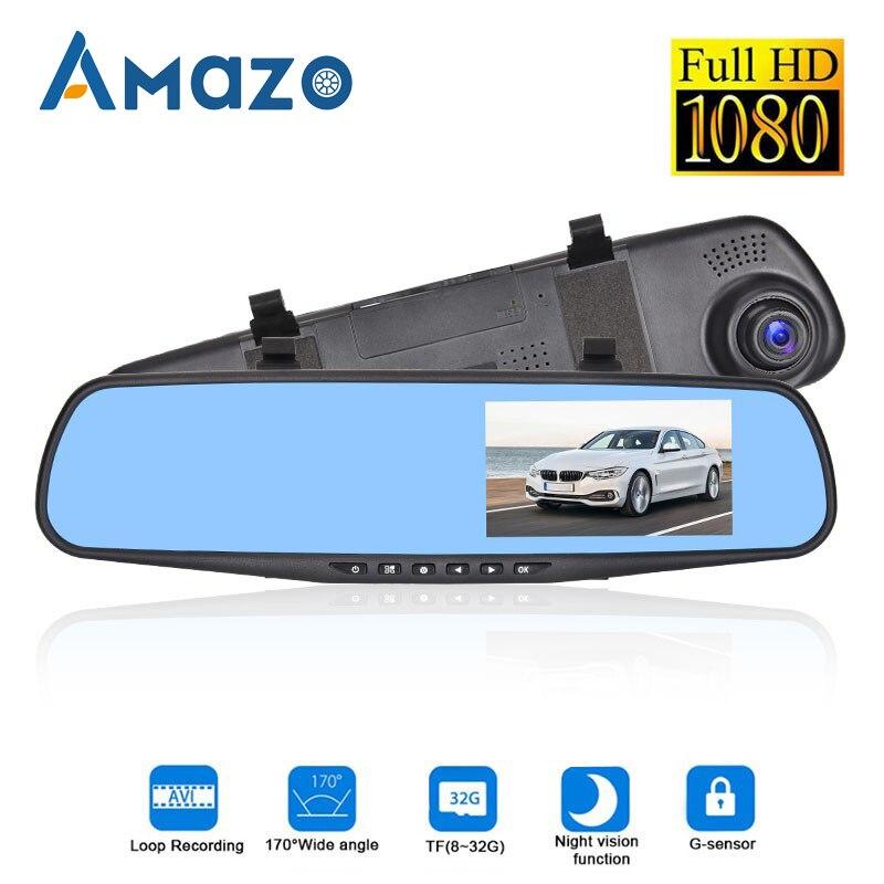 4.3 Inch Car DVR Dash Camera Mirror Full HD 1080P Loop Video Wide Angle Recorder Parking Monitor G Sensor In Car Dash Camera