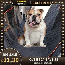 Dog Car View Mesh impermeabile Pet Carrier Car Rear Row cuscino sedile posteriore amaca con cerniera e tasca cuscino traspirante gatto