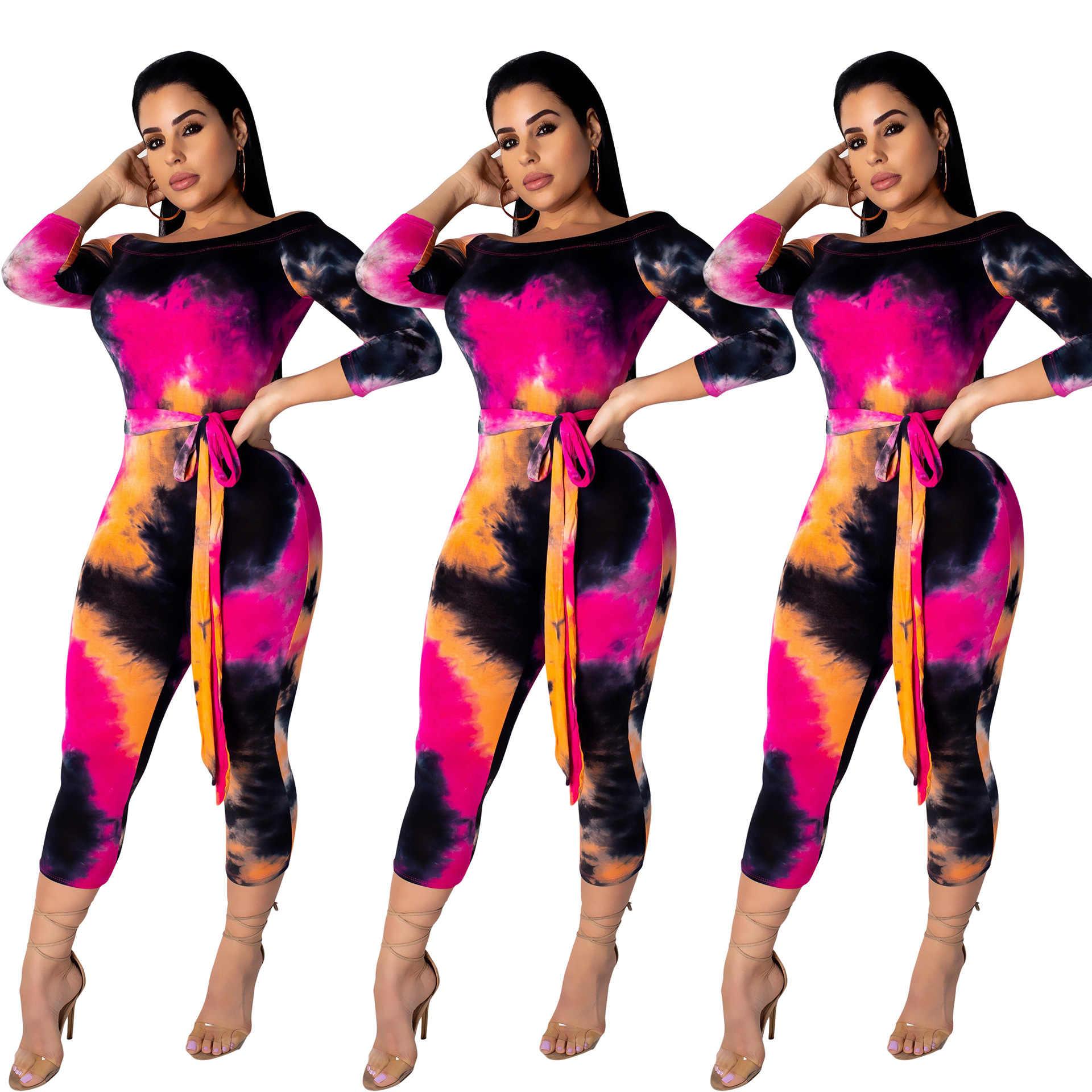 Ster-Gedrukt One-Kraag Casual Broek Zeven Minuten Broek Verjaardag Party Club Banket Nachtclub Elegante Luxe Sexy jurk