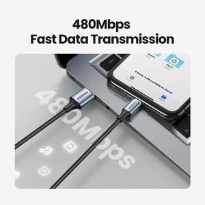 Image 5 - Câble USB UGREEN MFi pour iPhone 12 Mini 2.4A câble de charge rapide pour iPhone 12 Pro Max X XR 11 8 7 câble de chargeur de téléphone
