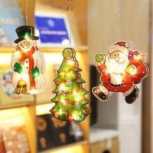 Рождественские украшения светящаяся светодиодный окна висит