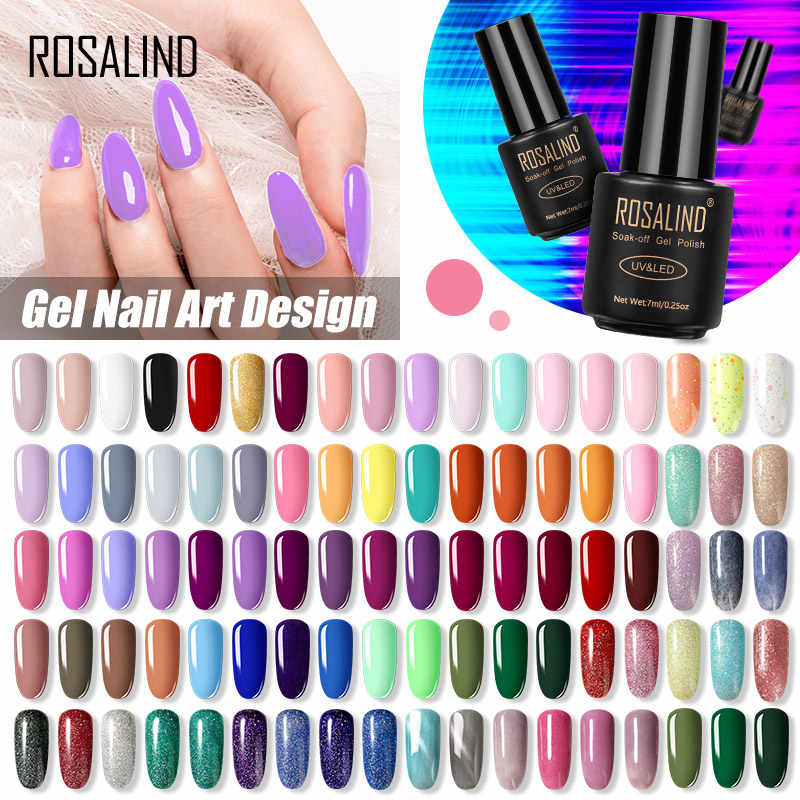 ROSALIND 7ML smalto Gel smalto ibrido UV per Manicure Off Gellak White Prime Nail art gel Extension nail Polish