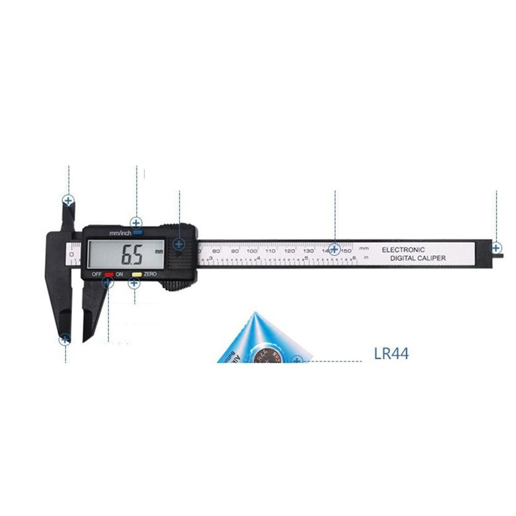 0-150mm Caliper Digital Electronic Digital Pachometer Carbon Fiber Vernier Gauge Micrometer Measuring Tool for jewelry measureme