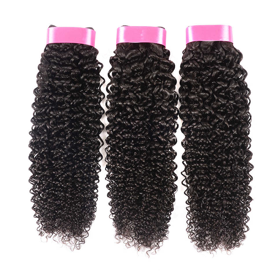 Karizma Indian Kinky Curly Hair 3 Bundles Deal 100% Human Hair Bundles Weaving Non Remy Hair Extensions Can Be Dyed No Shed