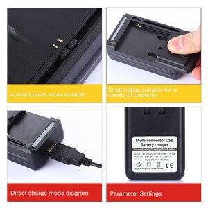 "Image 3 - אוניברסלי נייד סוללה ארה""ב/האיחוד האירופי תקע מטען מתאם עם LCD מחוון מסך עבור טלפונים סלולריים USB יציאת עמיד ו חסין אש"