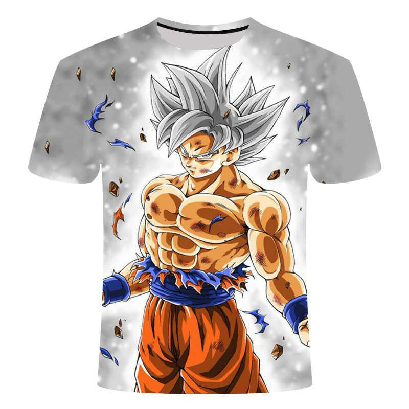 2019 뜨거운 새로운 드래곤 볼 Z T 셔츠 소년/소녀 여름 패션 3D 인쇄 슈퍼 Saiyajin 아들 Goku 블랙 Zamasu 베지터 드래곤 티셔츠