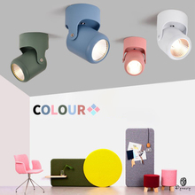 Colorful Ceiling Spotlights Macarons Europe Mount Install LED Track Lights Downlights Decorative Commercial Lighting Fixture cheap NoEnName_Null 1 Years 110-240V HOLIDAY LED Bulbs Mount Ceiling Aluminum