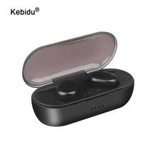 Kebidu Touch Bluetooth 5.0 auricolare TWS cuffie Wireless auricolare Stereo Bluetooth auricolari sportivi con microfono auricolari wireless