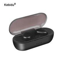 Kebidu Touch Bluetooth 5.0 écouteur TWS sans fil casque Bluetooth stéréo casque Sport écouteurs avec micro sans fil écouteurs