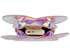 Image 5 - חמוד רעיוני לייזר פרפר עיצוב אופנה של הילדה תיק כתף תיק Tote תיק Crossbody תיק נשים מקרית מצמד תיק Bolsa