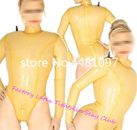 Handmade Nature Latex Catsuit Rubber Inflatable Unitard Zentai Catsuit Customized body suit with back zip for Woman