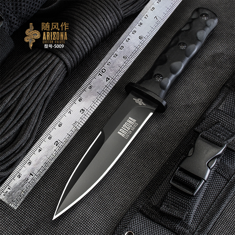 WIND Outdoor Diving Knife, Wild Survival Tactical Knife, Outdoor Survival Portable Knife, Sharp Military Knife, G10 Knife