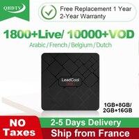 QHDTV Code IPTV France Arabic IPTV Subscription Germany Belgium Netherlands Leadcool Mini Android 8.1 TV Box Italy Spain IP TV