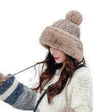 Winter Hat Beanie-Caps Satin Bonnet Velvet Women Hair-Ball Knit Warm Plus Wholesale Solid