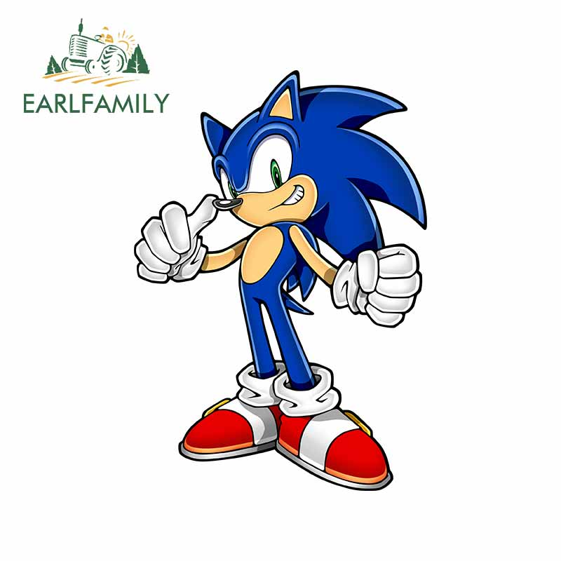 EARLFAMILY 13cm X 9cm For Sonic The Hedgehog Car Truck Decal Bumper Window JDM Accessories Waterproof 3D Vinyl Car Stickers