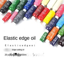 30ML DIY Leather Edge Paint Oil Dye Highlights Professional 20 Colors Watercolor Paint Liquid Leather Craft
