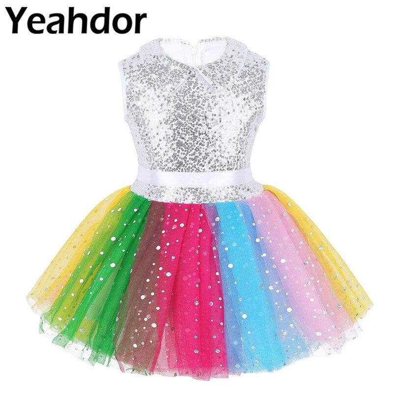 Festival Xmas Girls Rainbow Long Gloves Socks Tutu Skirt Set Or Accessory Party Performance 3-Piece Set