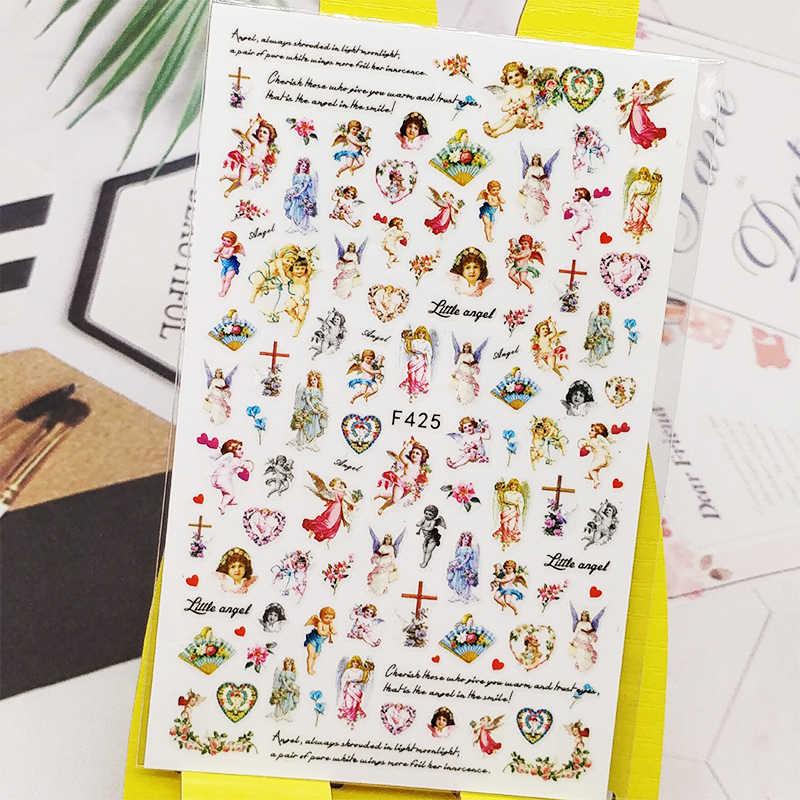 3D Nail Sticker Decals Kat Poker Meisje Ontwerp Nail Art Decoraties Stickers Sliders Manicure Accessoires Nagels Decoraciones