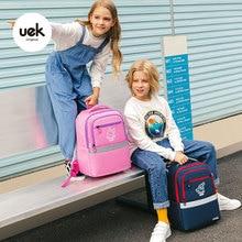 School-Bags UEK Backpack for Girl Boy Travelling-Bag Student-Light Primary Large-Capacity