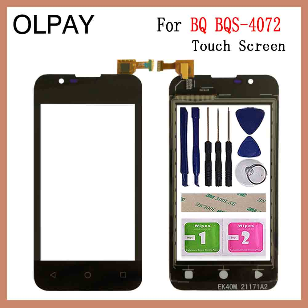 OLPAY 4.0'' New 100% Mobile Phone TouchScreen For BQ BQ-4072 BQS 4072 Touch Screen Digitizer Sensor Touch Panel Glass Repair