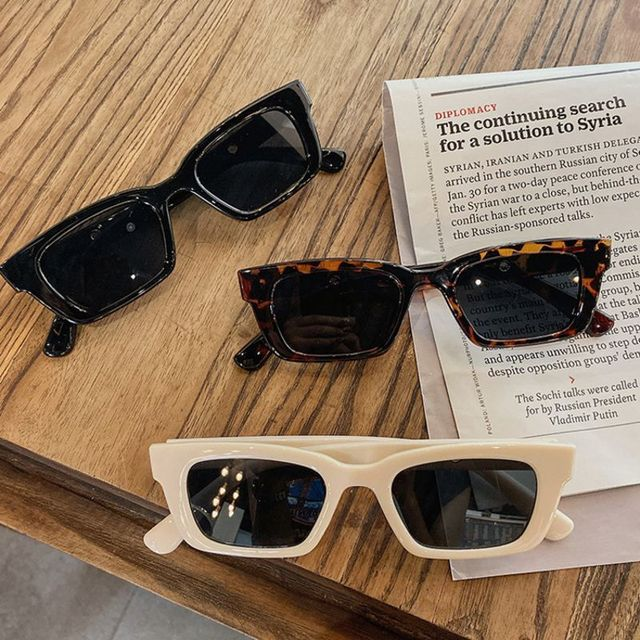 Women Rectangle Sunglasses Retro Vintage Leopard Sun Glasses Female Lady Eyeglass очки солнечные женские Cat Eye Driver Goggles