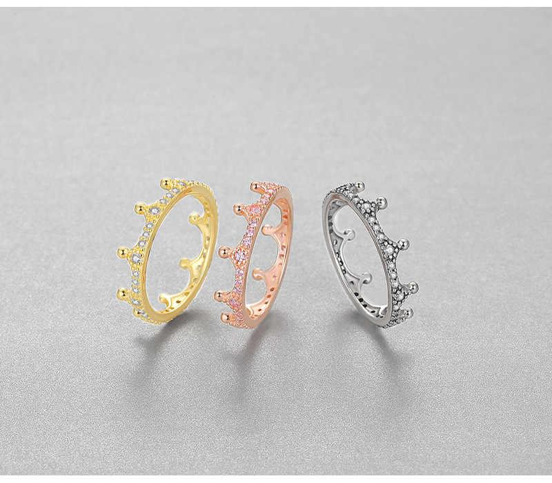 Warna Perak 925 SL1 Diamond Ring untuk Wanita Fashion Anillos De 2 Karat Bizuteria Gemstone Pernikahan 925 Perhiasan Cincin Berlian