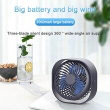 Desktop usb fan 360° Cooler Cooling Mini Fan 3 Speed Super Mute Cooler for Office Cool Fans Car Home Portable Fan