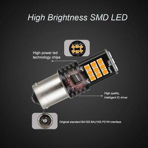 NLpearl 2x сигнальная лампа, 1156 светодиодный фонарь Ba15s P21w PY21W автоматический указатель поворота 3030SMD 1157 Bay15d светодиодный стоп-сигнал s белый крас...