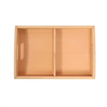 Wooden Tray with Compartment Montessori Materials IC CASA Classroom Equipment Preschool Early Educational Items