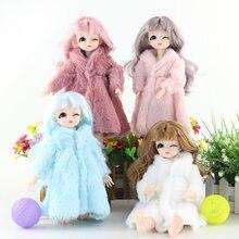 Vestido casaco topos wear-acessórios de manga longa barbie-boneca multicolorido inverno crianças casual vestido casaco tops wear-acessórios