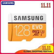SAMSUNG tarjeta de memoria Micro SD EVO de 32GB, 64GB, Clase 10, 128GB, Max 100, MB/s, SDHC, SDXC, U3, UHS I, TF, 4K, HD, para Smartphone, tableta y PC