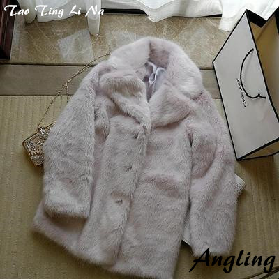 2020 New Style High-end Fashion Women Faux Fur Coat S7