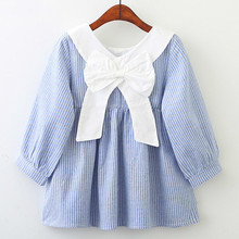 Girls Dress New Autumn Dresses Children Clothing Long Sleeve Princess PinkWool Bow Design Clothes 40